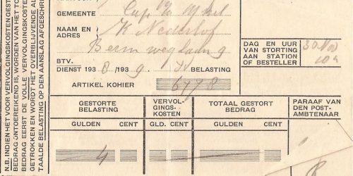 1938 belastingaanslag